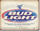 Bud Light Metal Tin Sign