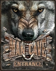 Man Cave Wolf Metal Tin Sign