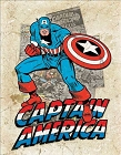 Captain America Splash Metal Tin Sign