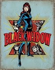 Black Widow Retro Metal Tin Sign