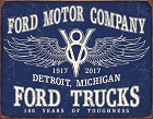 Ford Trucks - 100 Years Metal Sign