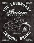 Indian Motorcycles - Legendary Metal Tin Sign