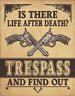 Life After Death Metal Tin Sign
