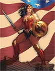 Wonder Woman Sword Metal Tin Sign