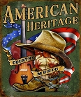 American Country Music Metal Tin Sign
