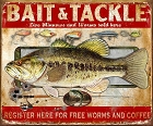Bait & Tackle Metal Tin Sign