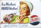 Pepsi Weather Metal Sign