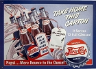Pepsi Take Home Carton Metal Sign