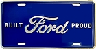 Ford Built Proud License Plate