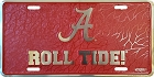Alabama Roll Mosaic License Plate
