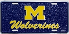 Michigan Wolverines Mosaic License Plate