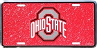 Ohio State Buckeyes Mosaic License Plate