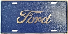 Ford Script Mosaic License Plate