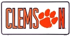 Clemson Tigers College New License Plate