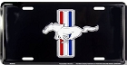 Ford Mustang Black License Plate