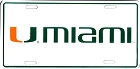 Miami White License Plate