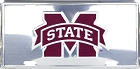 Mississippi State Polished License Plate
