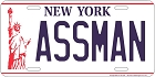 Assman License Plate
