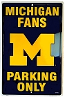 Michigan Wolverines Large Parking Sign
