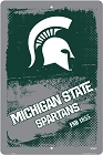 Michigan State Spartans Grunge Large Parking Sign