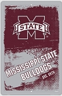 Mississippi State Bulldogs Grunge Large Parking Sign