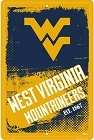 WV Mountaineers Grunge Large Parking Sign