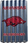 University of Arkansas Razorbacks Corrugated Large Parking Sign