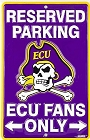 East Carolina Pirates Fans Small Parking Sign
