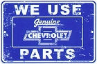 Chevy Parts Sm. Parking Sign