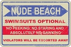 Nude Beach Sm. Parking Sign