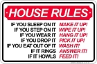 House Rules Sm. Parking Sign