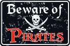 Beware of Pirate Sm. Parking Sign