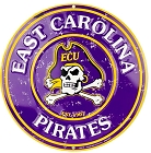 East Carolina Pirates 12 inch Round Sign