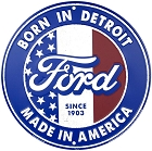 Ford Born in Detroit Round Sign