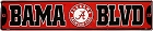 University of Alabama - Bama Blvd Street Sign