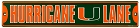 Miami Hurricanes Lane Street Sign