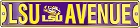 Louisiana State Tigers Ave Street Sign