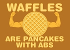 Waffles - Pancakes with Abs Magnet