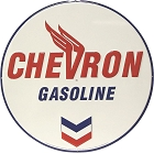 Chevron Logo 24 inch Large Round Sign