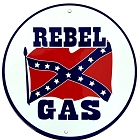 Rebel Gas 24 inch Large Round Sign