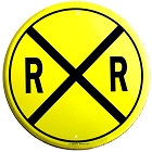 Railroad 24 inch Large Round Sign