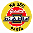 Genuine Chevy Parts 24 inch Large Round Sign