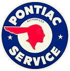 Pontiac Service 24 inch Large Round Sign