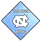 North Carolina Tar Heels New Crossing Sign