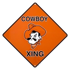 Oklahoma State -  Cowboy New Crossing Sign