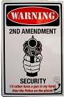 2nd Amend. Security Metal Sign