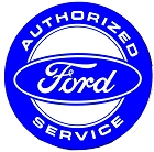 Ford Authorized Service 12 inch Round Sign