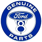 Ford V8 Genuine Parts 12 inch Round Sign