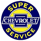 Chevy - Super Service 12 inch Round Sign