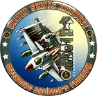 US Air Force 12 inch Round Sign